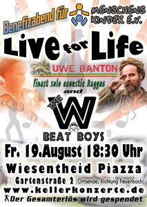 Live for Life Part II Benefizabend für Menschenskinder e.V.